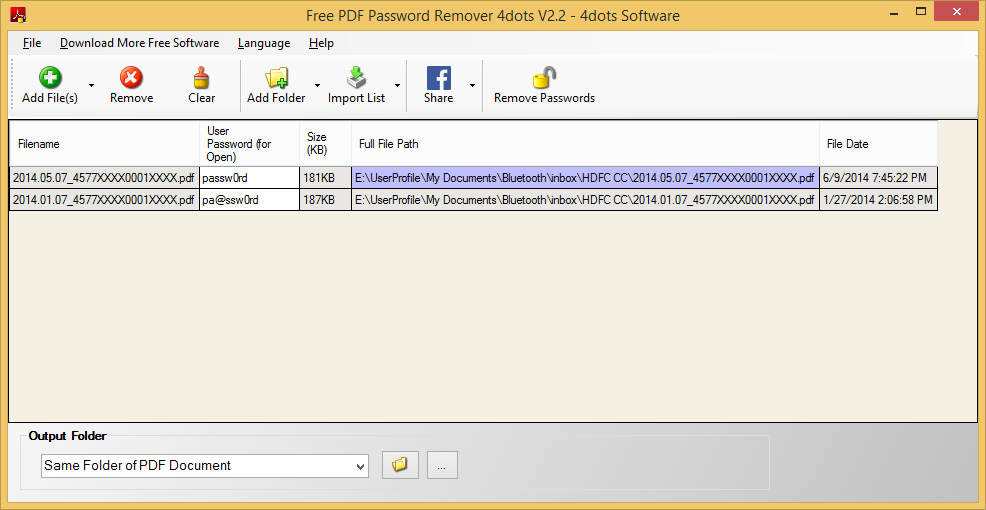 Free PDF Password Remover 2.2 download - FreewareLinker.com